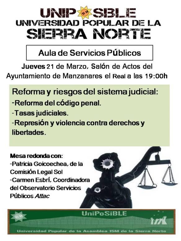 Aula de Servicios Públicos judicial