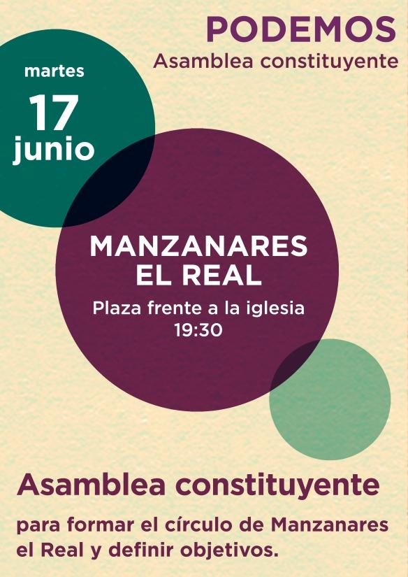 Asamblea constituyente Círculo Podemos manzanares el Real